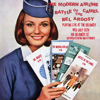 The Modern Airline plays The Delancey on July 25th